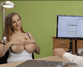 Peituda Gata passando com sexo na entrevista de emprego