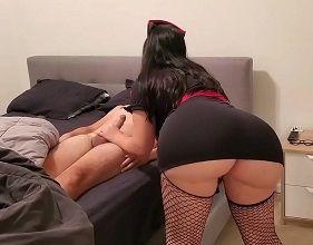 Madura Gata do mega rabo realizando o seu fetiche com o enteado